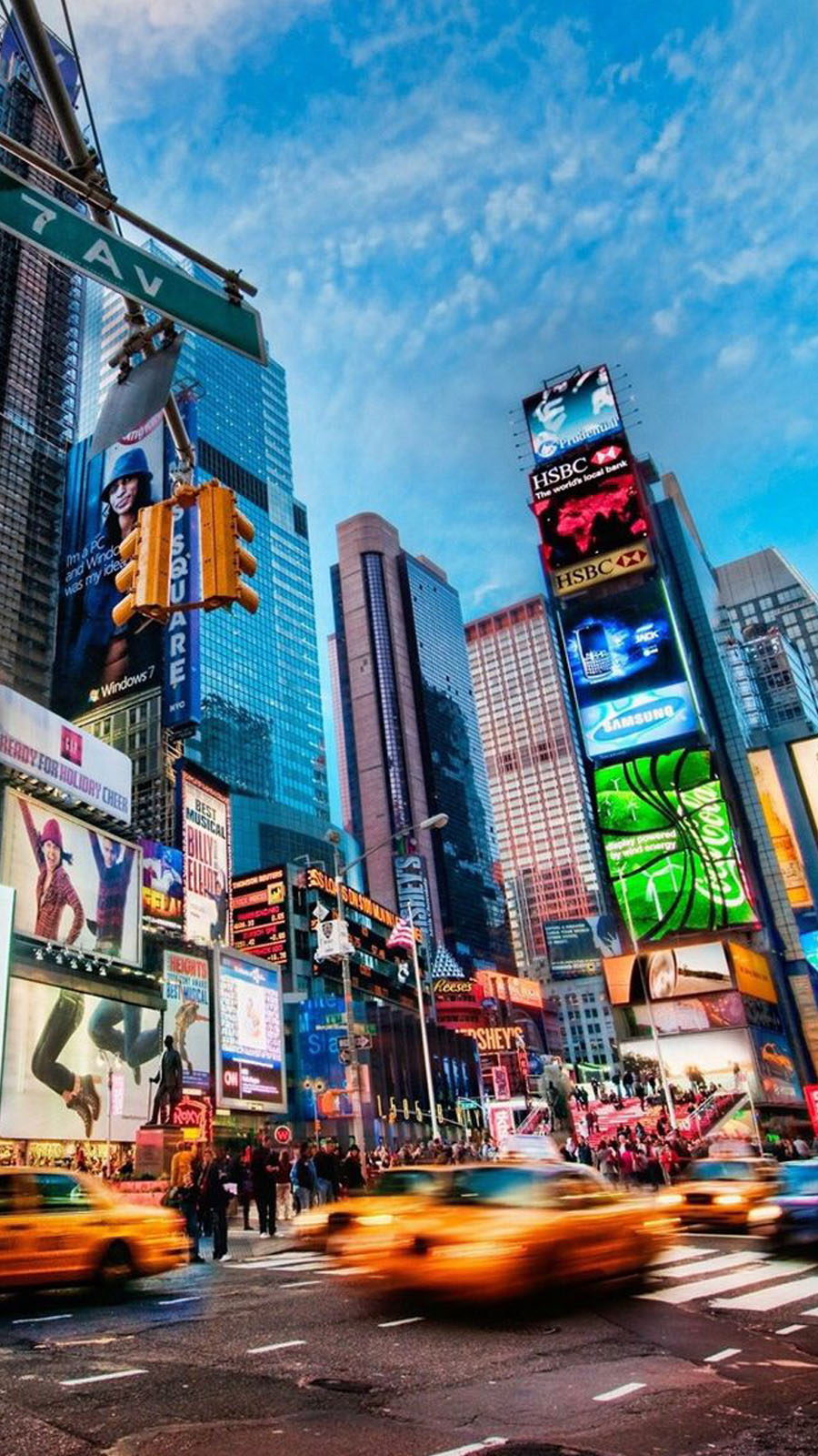 new-york-fond-decran-smartphone-taxi